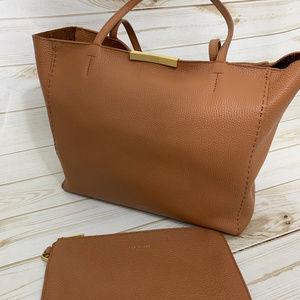 Ted Baker Bow Detail Leather Shopper Bag - EUC
